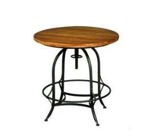 Industrial Adjustale Round Counter Height Table