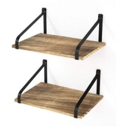 Rustic Wood Hanging Wall Shelf