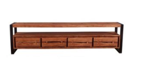 Acacia Wood Live Edge TV Unit