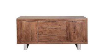 Acacia Wood Stainless Steel Side Board