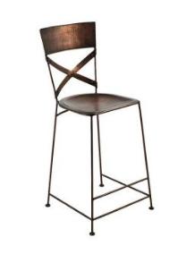 Copper High Stool Bar Chair