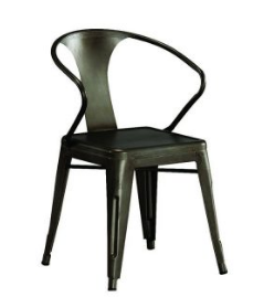 Industrial Style Metal Metal Dining Table Chair
