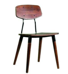 Industrial Vintage MEtal Wood Chair