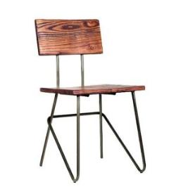 Urban Hairpin Chair Wood Seat