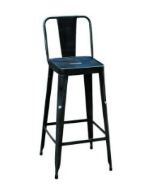 Antique Block Bar Stool in Iron