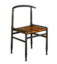 Vintage Industrial Wooden Dining Table Chair