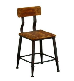 Vintage Industrial Wooden Dining Table Room Chair