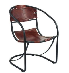 Wonderful Iron Leather Dining Table Chair