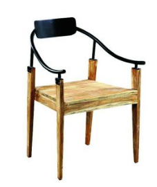 Wood Metal Restaurant Dining Table Chair
