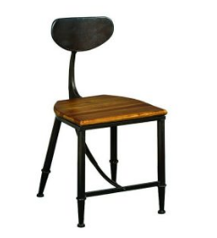 Artisans Chair With Metal Back Rest